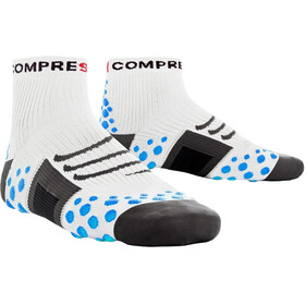 Compressport ProRacing Run High Socks White/Blue